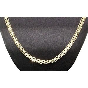 Heavy 18k Solid Gold Woven Honey Comb Basket Chain